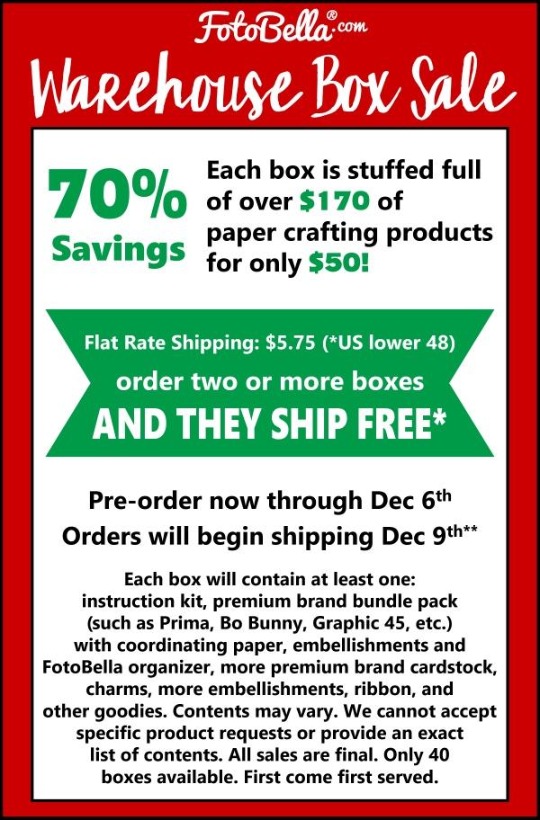Warehouse Box Sale