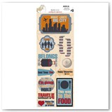 13102332DETOUR WITHOUT A MAP Cardstock Sticker