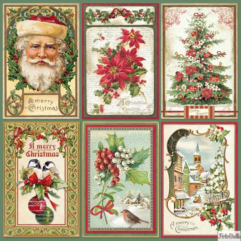 12x12 Paper Pad Christmas Vintage 10 Double Sided