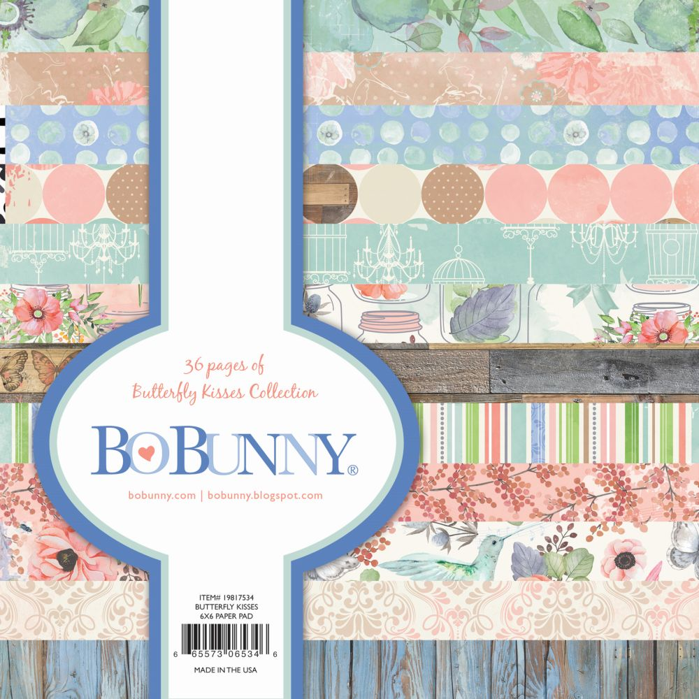 Scrapbook paper pads - Butterfly Kisses 6x6 Paper Pads By Bo Bunny For Scrapbooks Cards Crafting