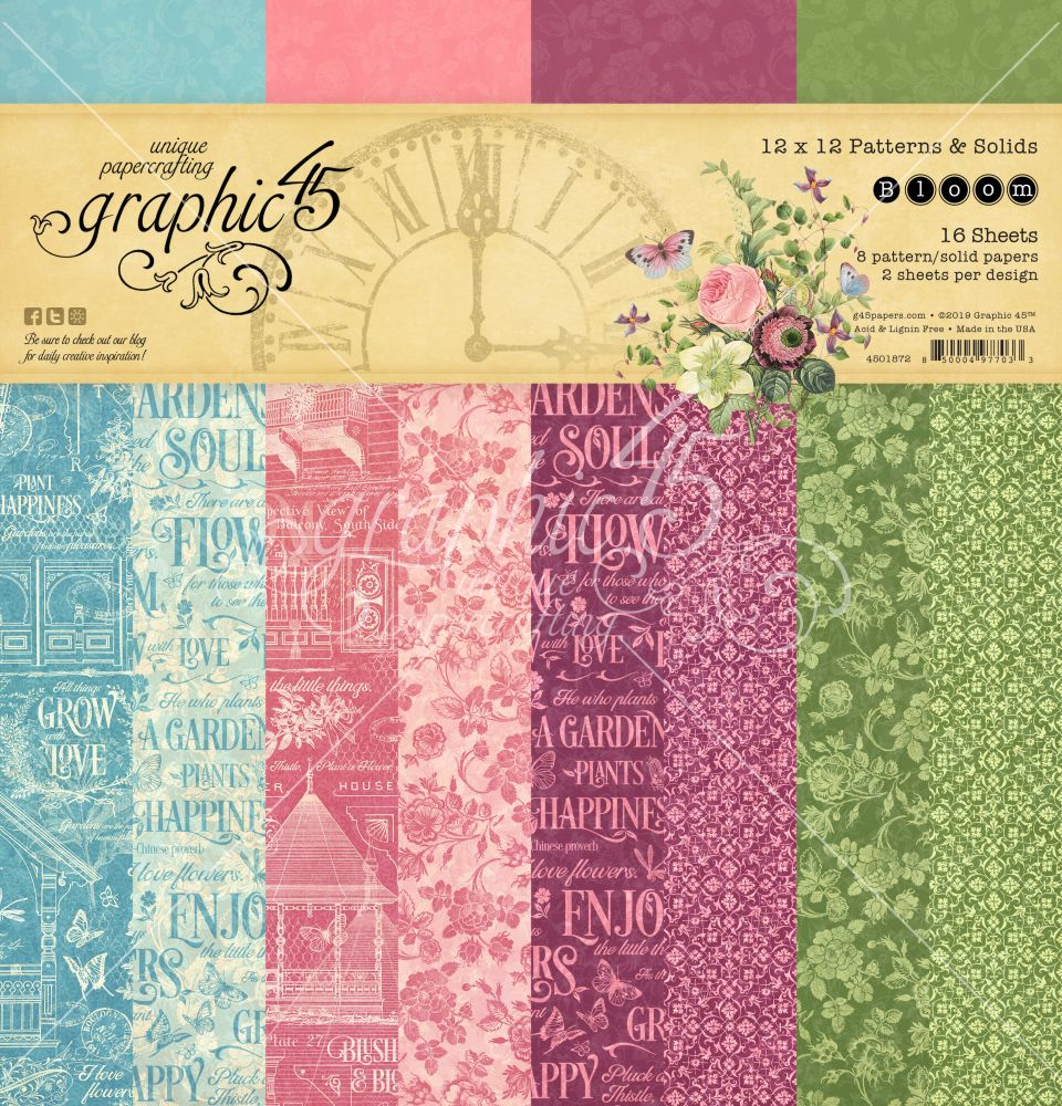 938486aa2e Bloom Patterns   Solids by Graphic 45 for Scrapbooks