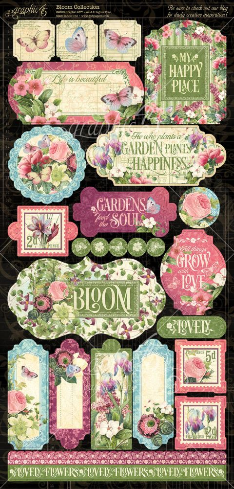 bcd31dd3f2 Bloom Stickers by Graphic 45 for Scrapbooks