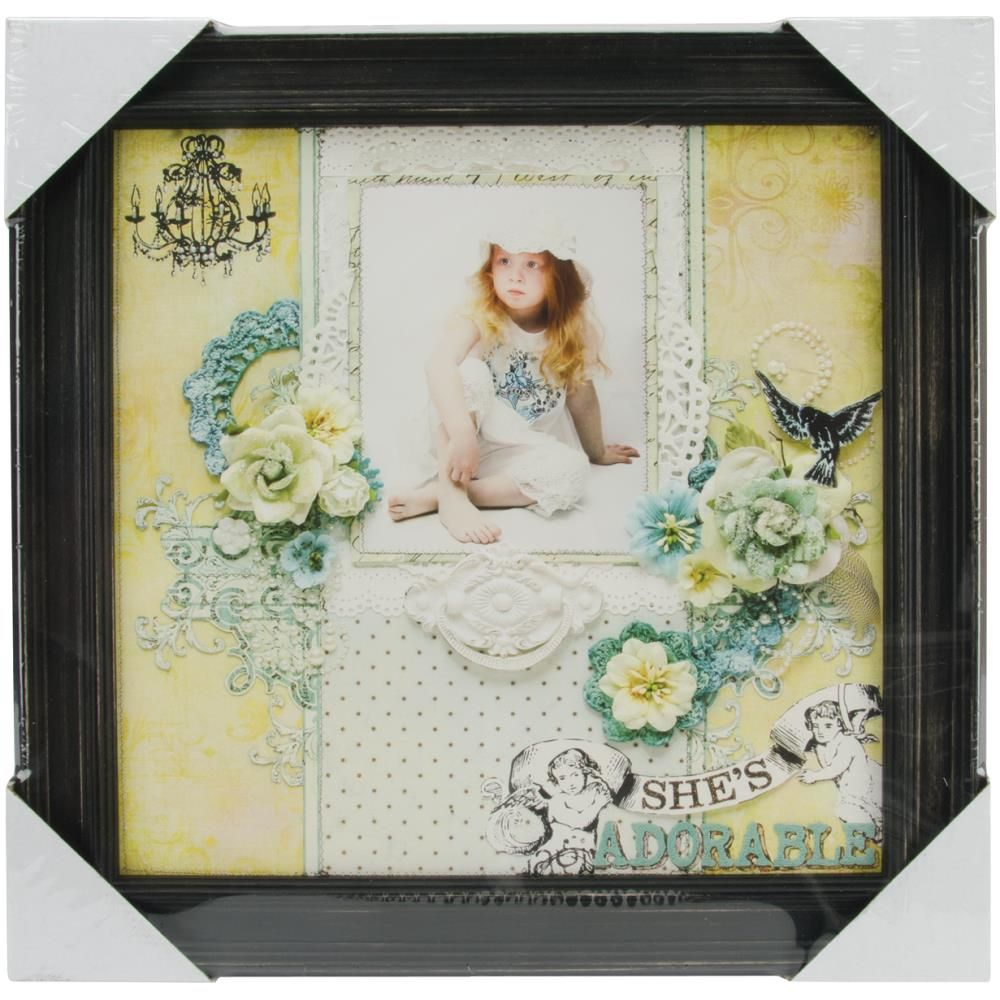 Antique Black 12x12 Wood Frame by Prima Marketing for Scrapbooks ...
