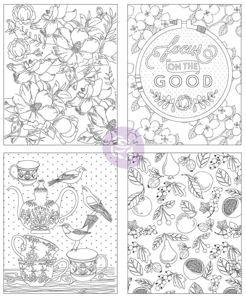 Watercolor Decor Vol. 4 Coloring Book by Prima Marketing for ...