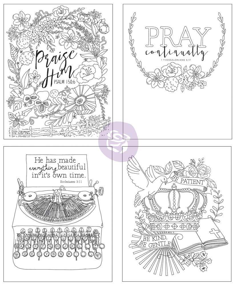 Watercolor Decor Vol. 3 Faith Based Coloring Book by Prima Marketing ...