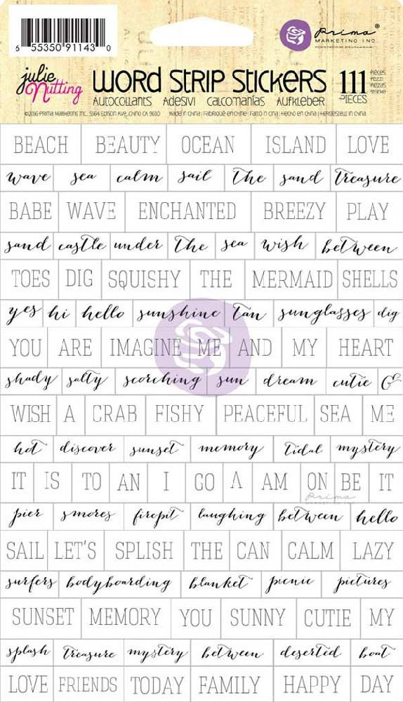 Prima Marketing Julie Nutting Word Strip Stickers