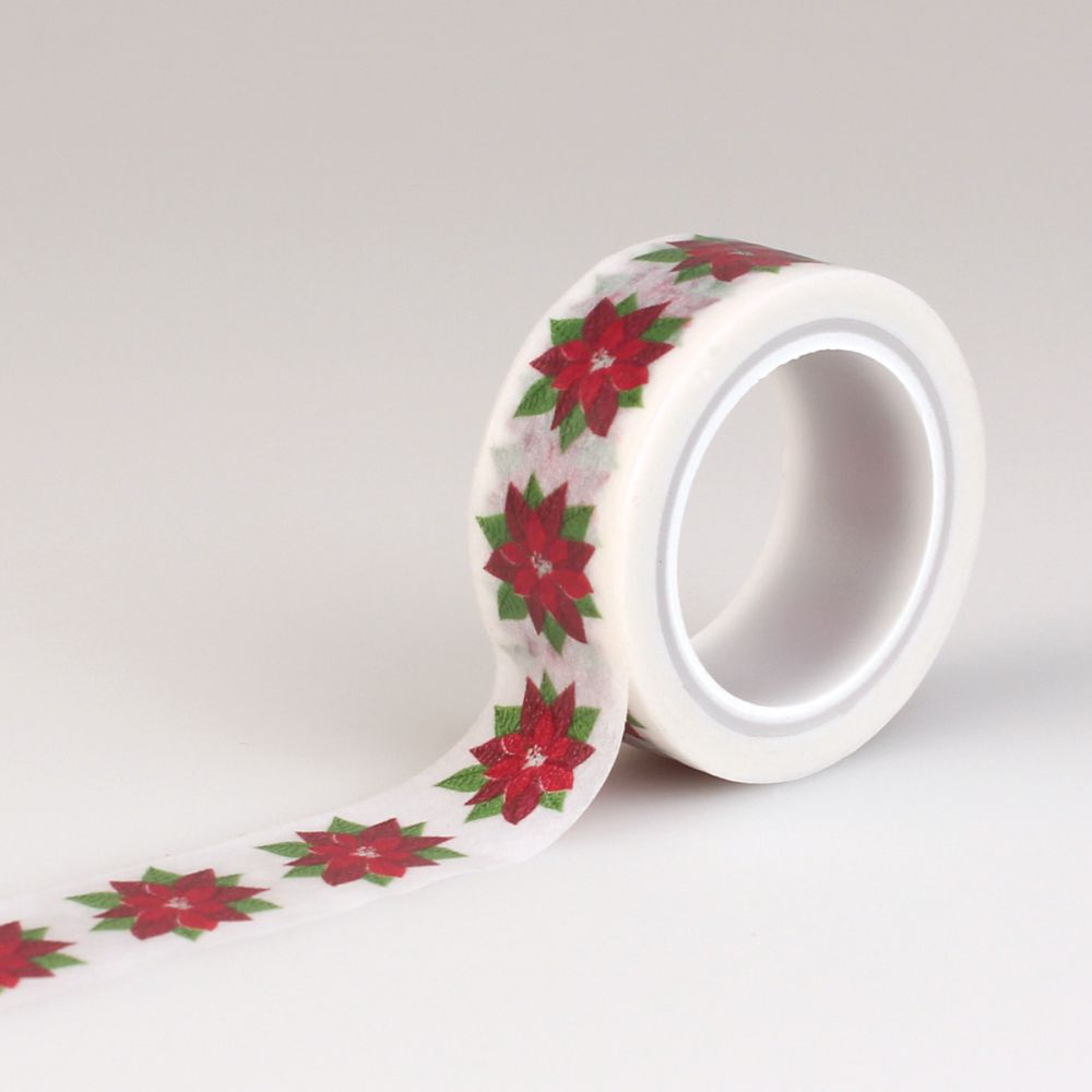 tape carta bella have a merry christmas decorative tape poinsettia