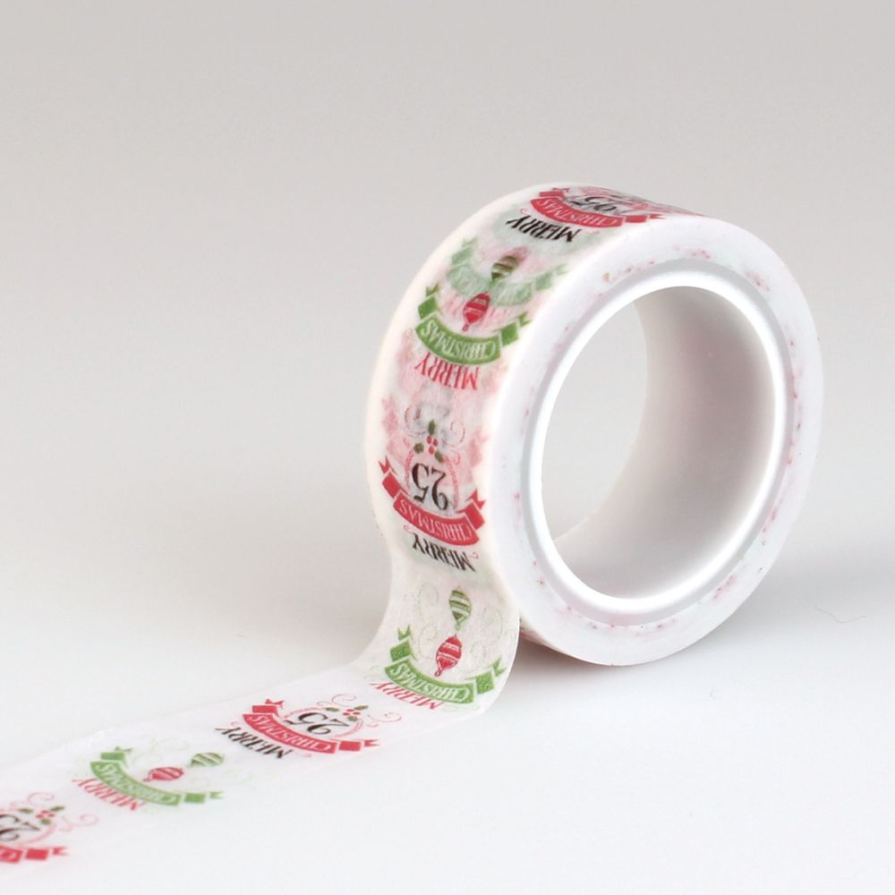 tape carta bella have a merry christmas decorative tape words