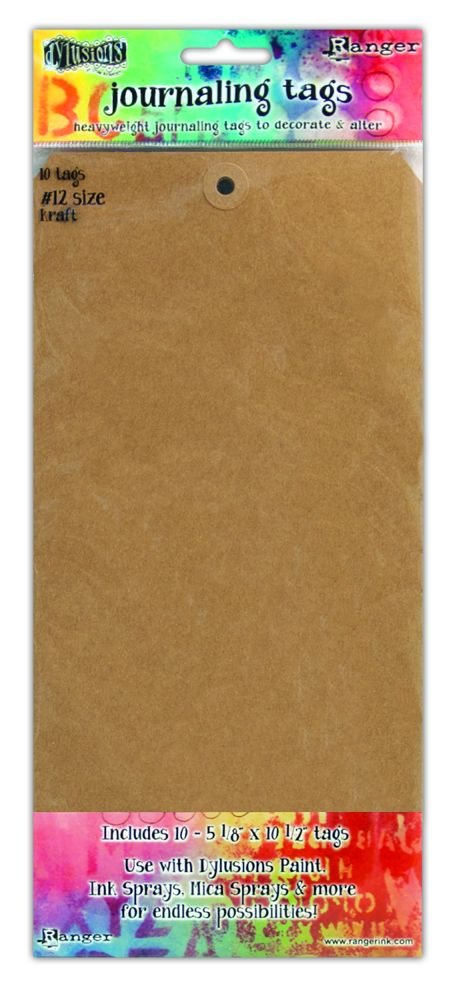 Ranger Ink Dylusions Media Journaling Tags Size Number 12  dya47810 KRAFT