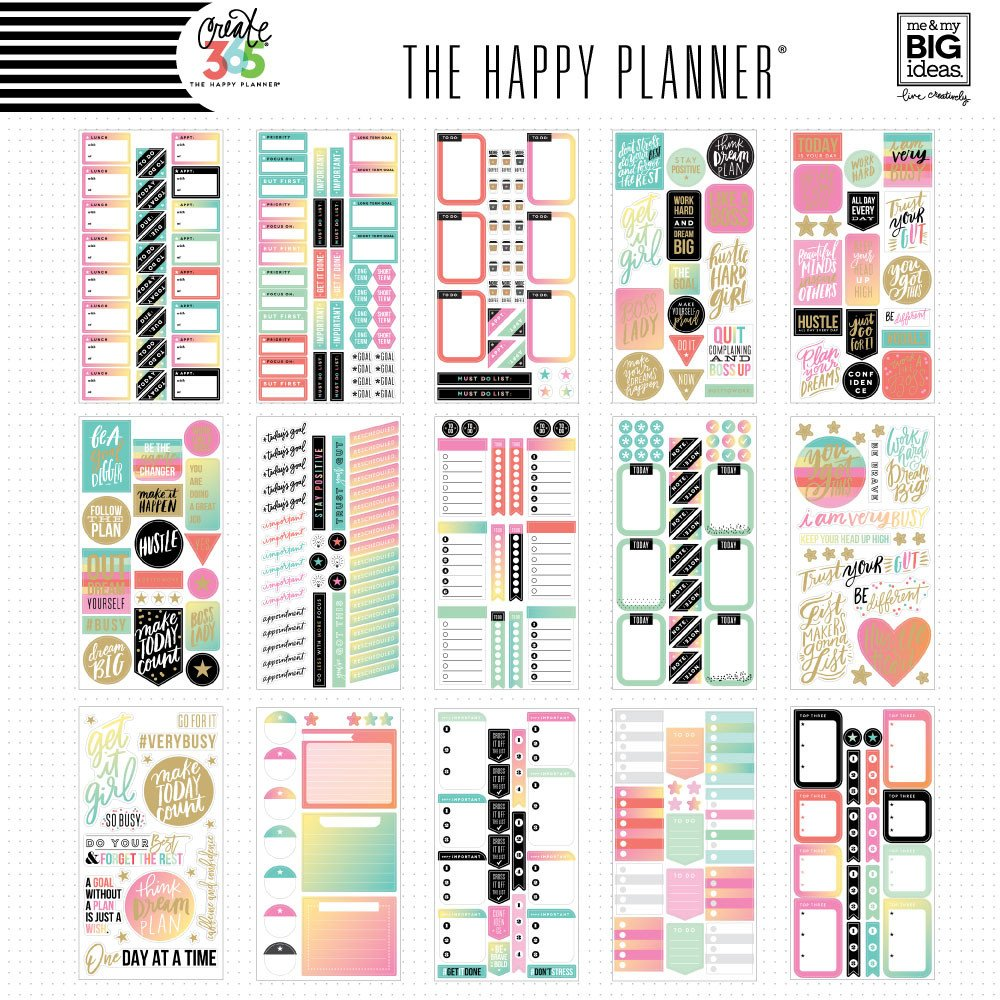 Create 365 the happy planner sticker value pack for Me my big ideas planner