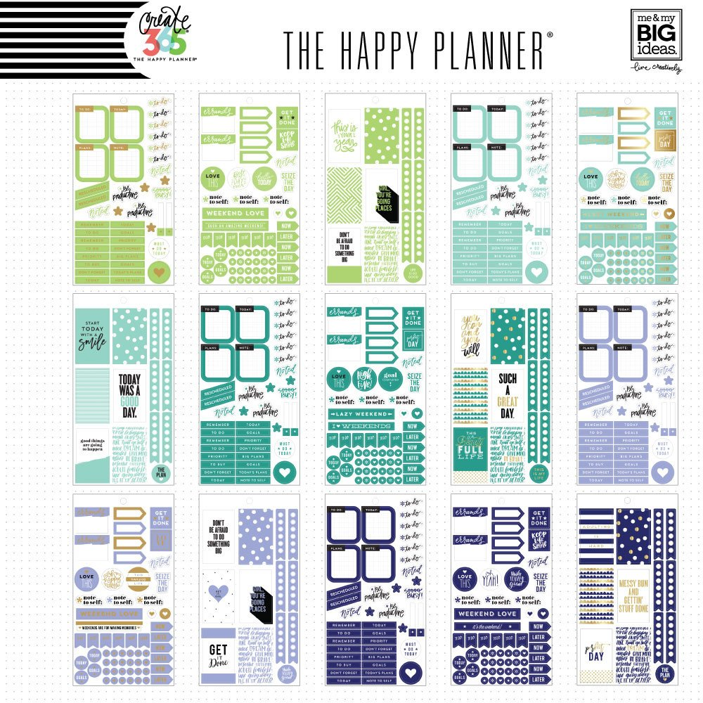 Create 365 the happy planner sticker value pack rainbow for Happy planner ideas