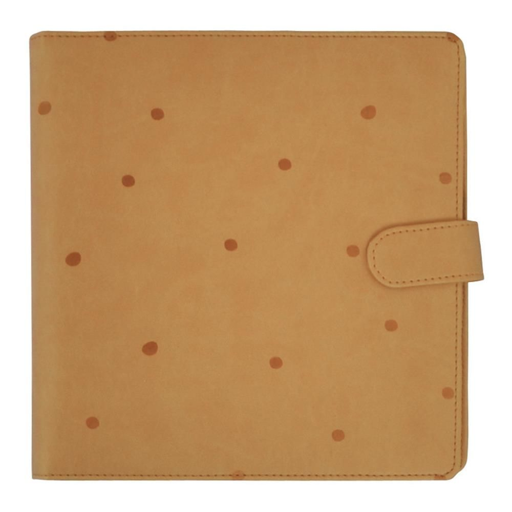 "KaiserCraft Journal Planner 9""X9"" - Tan with Embossed Spots"