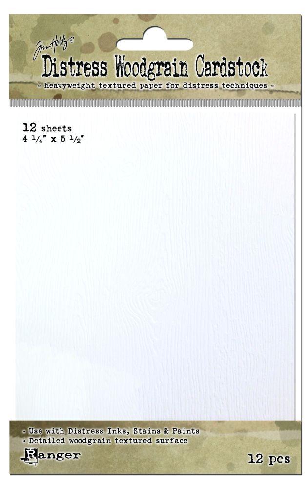 Tim Holtz DISTRESS WOODGRAIN CARDSTOCK TDA51022 12 sheets