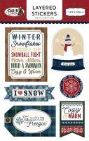 Carta Bella Cabin Fever Layered Stickers
