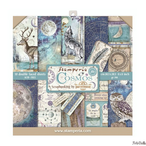 """Stamperia Double-Sided Cardstock 12/""""X12/""""  Cosmos Bark"""