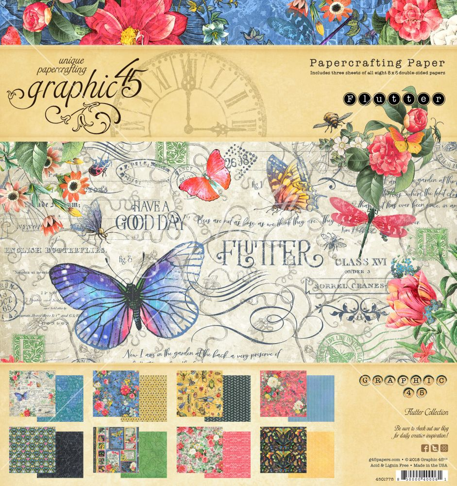 Graphic 45 Flutter 8x8 Pad