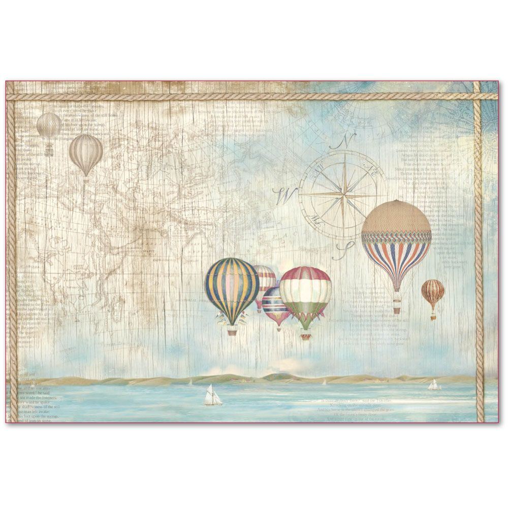 Stamperia Scrapbooking Rice Decoupage Paper Decoupage Sheets Ballons