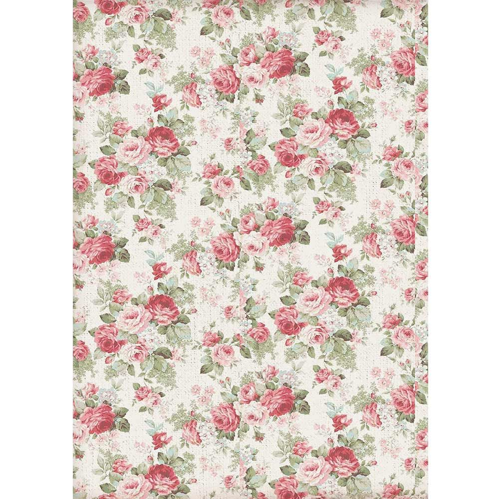 STAMPERIA A4 Rice paper packed Rose*Specialty Paper Papercrafts
