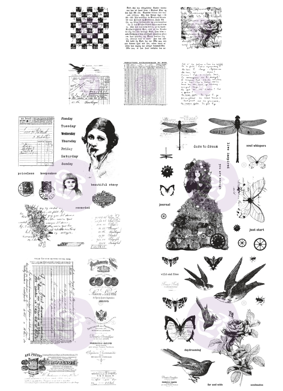 New Prima Marketing  Cling Stamps Finnabair Beautiful Story