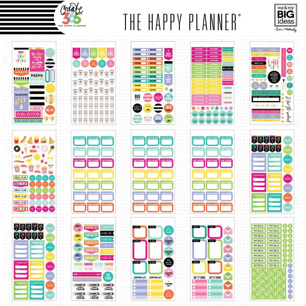 Create 365 the happy planner sticker value pack mom job by me my big ideas for planners bullet journals scrapbooks cards and crafting
