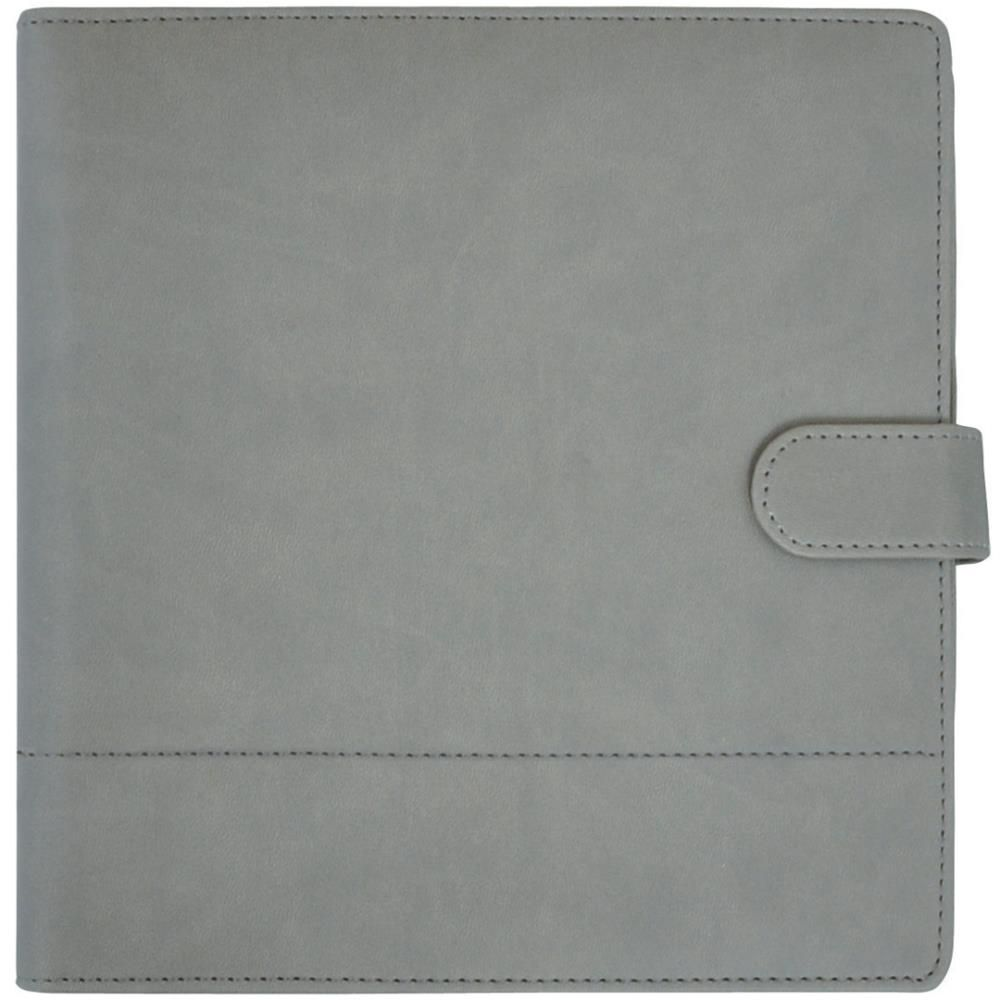 """Journal Planner 9/""""X9/"""" Gray Leather W//Stitched Accents 883416270560"""