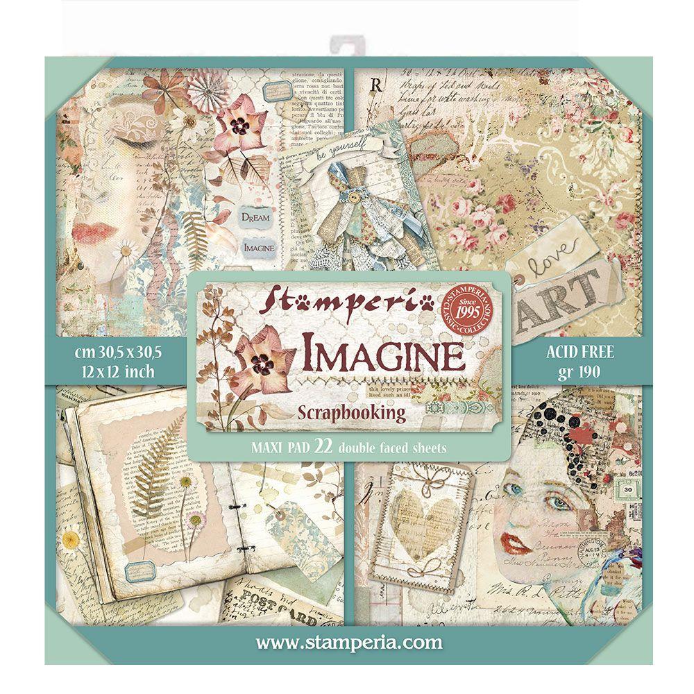 Stamperia Imagine scrapbooking paper New Stamperia 10 sheets of printed paper 30x30 cm stamperia print  scrapbooking