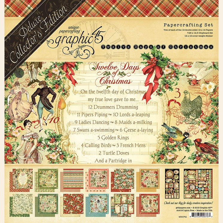 12 Days Of Christmas List.Graphic 45 12 Days Of Christmas Deluxe Collector S Edition